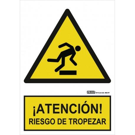 Señal Atención riesgo de tropezar