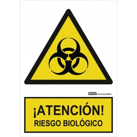 Señal Atención riesgo biológico