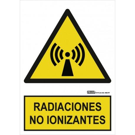 Señal Riesgo de radiaciones no ionizantes