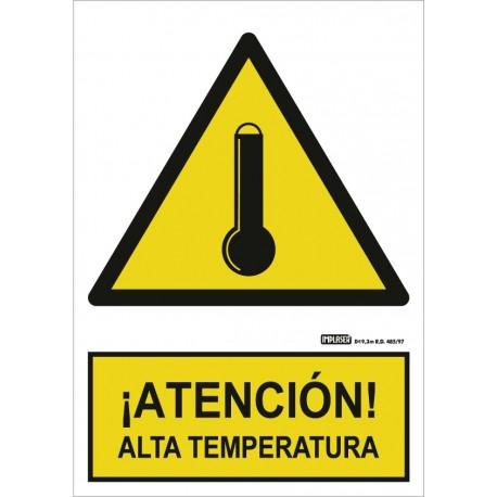 Señal ¡Atención! Alta temperatura