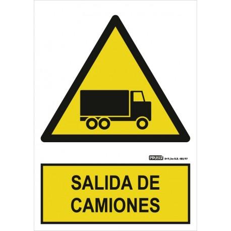 Señal Salida de camiones