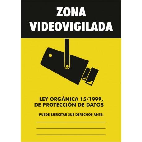 Señal Zona de videovigilancia