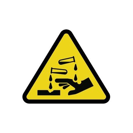 Pegatina riesgo de corrosión