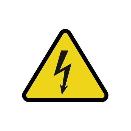 Pegatina riesgo eléctrico