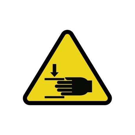 Pegatina ¡Atención! a las manos