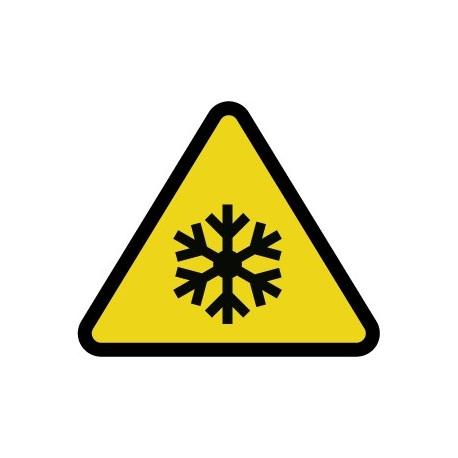 Pegatina ¡Atención! Baja temperatura