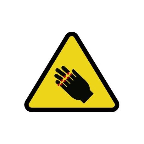 Pegatina ¡Peligro! - Corte de manos