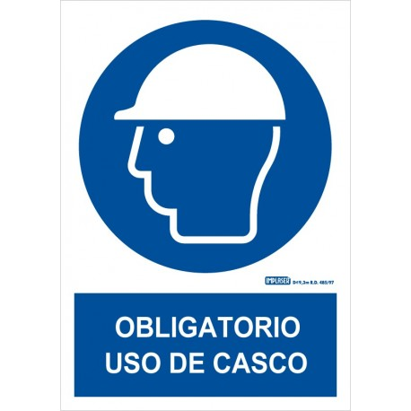 Señal Obligatorio uso de casco