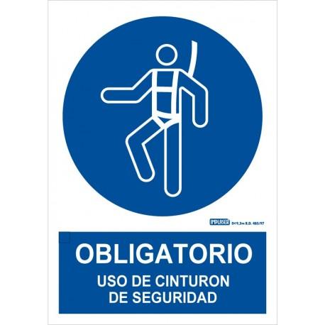 Señal Obligatorio uso de cinturón de seguridad