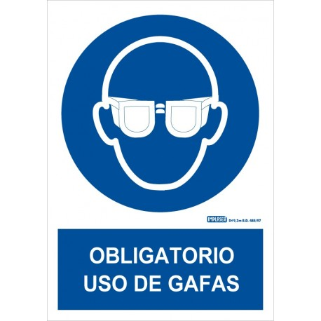 Señal Obligatorio uso de gafas