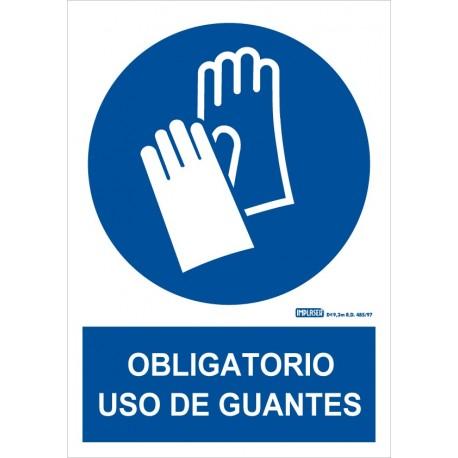 Señal Obligatorio uso de guantes