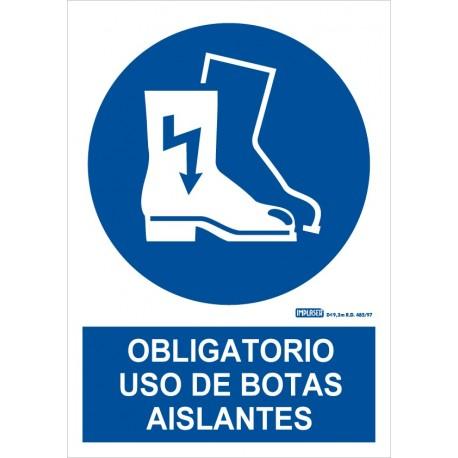 Señal Obligatorio uso de botas aislantes