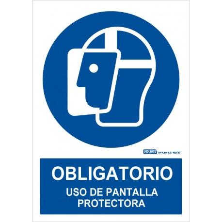 Señal Obligatorio uso de pantalla protectora