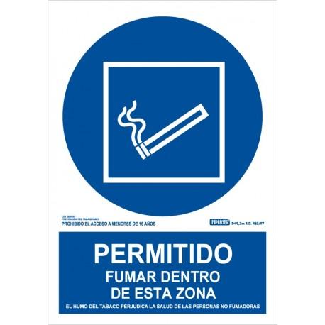 Permitido fumar en esta zona