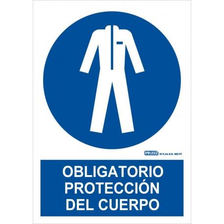 Señal obligatorio protección del cuerpo