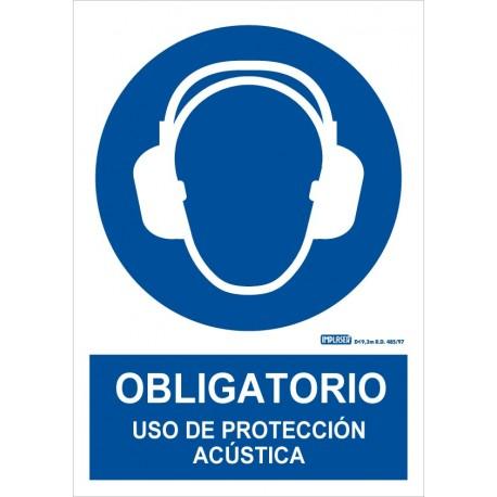 Señal obligatorio uso de protección acústica