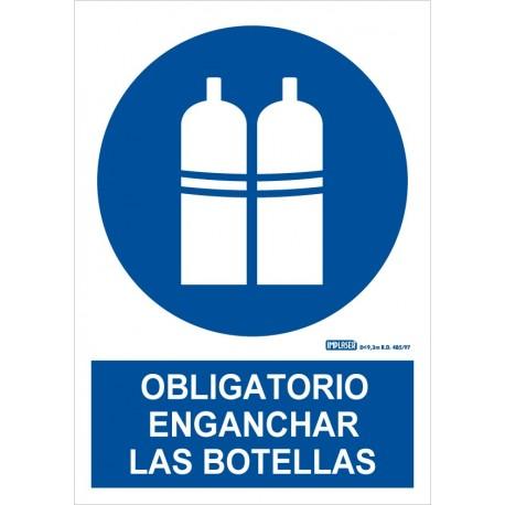 Señal obligatorio enganchar las botellas