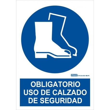 Señal uso obligatorio de calzado de seguridad