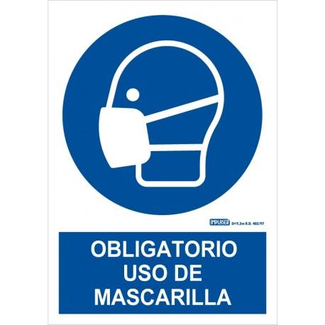 Señal uso obligatorio de mascarilla