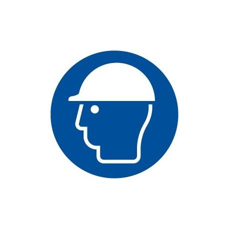 Pegatina señal Obligatorio uso de casco.