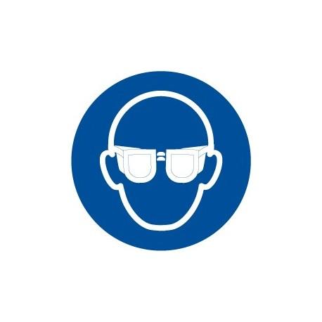 Pegatina señal uso obligatorio de gafas