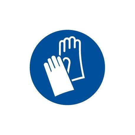 Pegatina señal uso obligatorio de guantes
