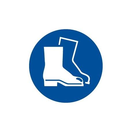 Pegatina señal uso obligatorio de botas