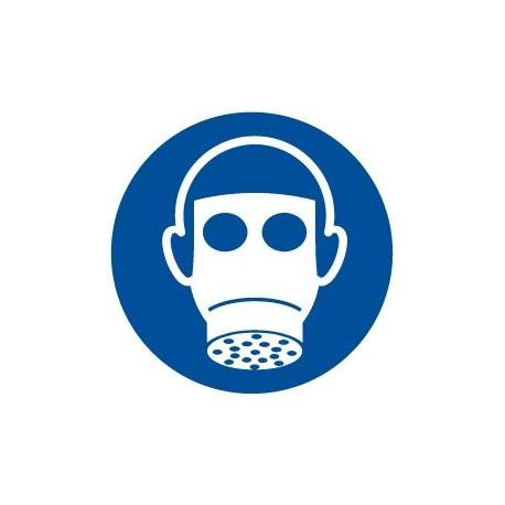 Pegatina señal uso obligatorio de máscara