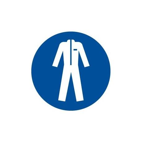 Pegatina señal protección del cuerpo