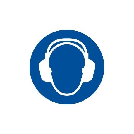 Pegatina señal uso obligatorio de protección acústica