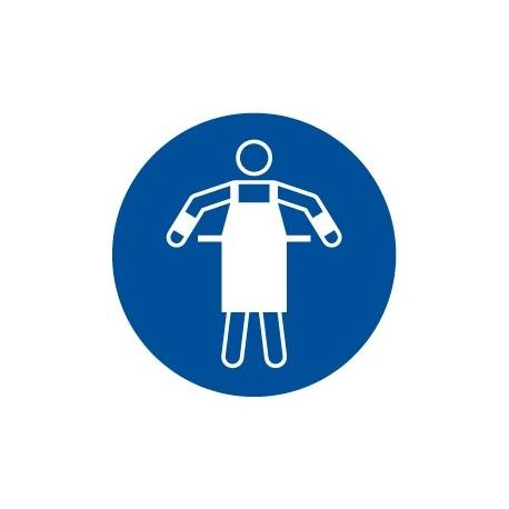 Pegatina señal uso obligatorio de mandil
